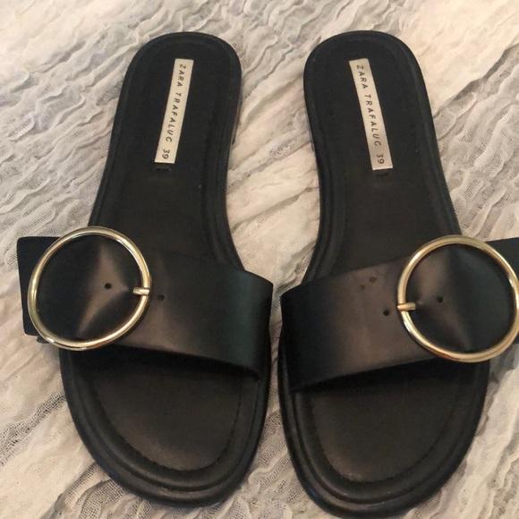 Zara trafaluc slip on sandals